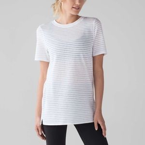 Lululemon Uncovered Tall Tee White Shirt Size 8